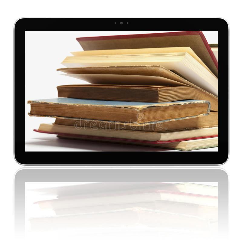 Download E-book E-reader With Books On Screen Stock Image - Image: 21943953