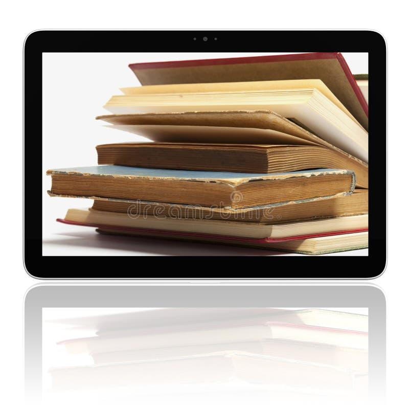 Free E-book E-reader With Books On Screen Stock Photos - 21943953