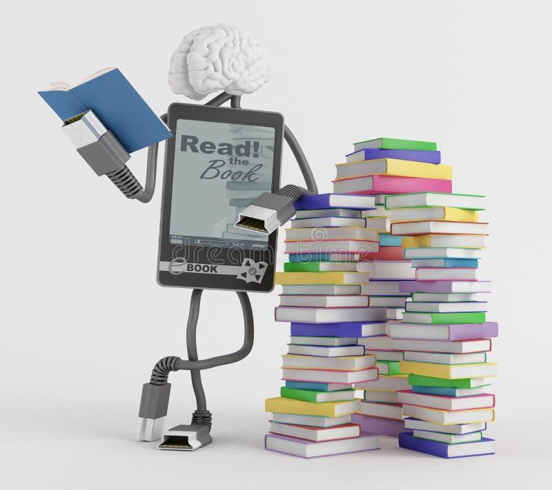Download E-Book man stock illustration. Illustration of device - 28479781