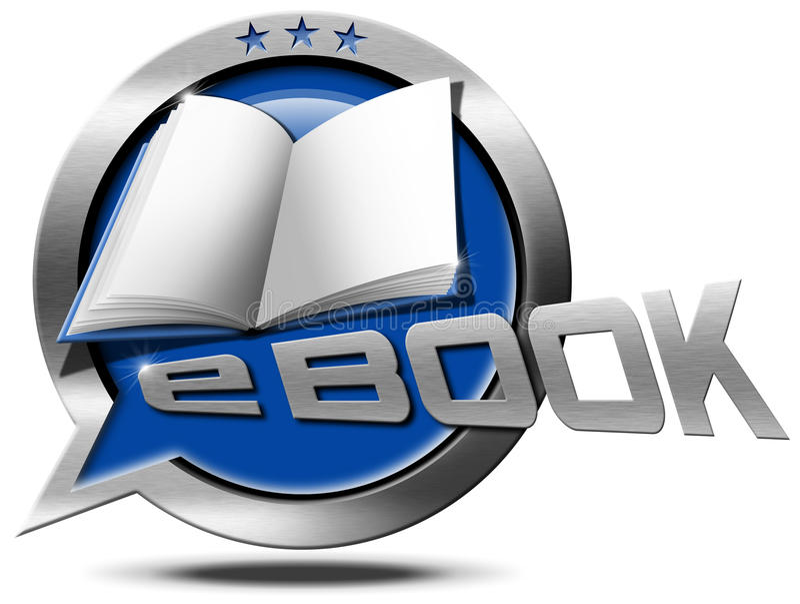 E-Book - Metallic Speech Bubble vector illustration