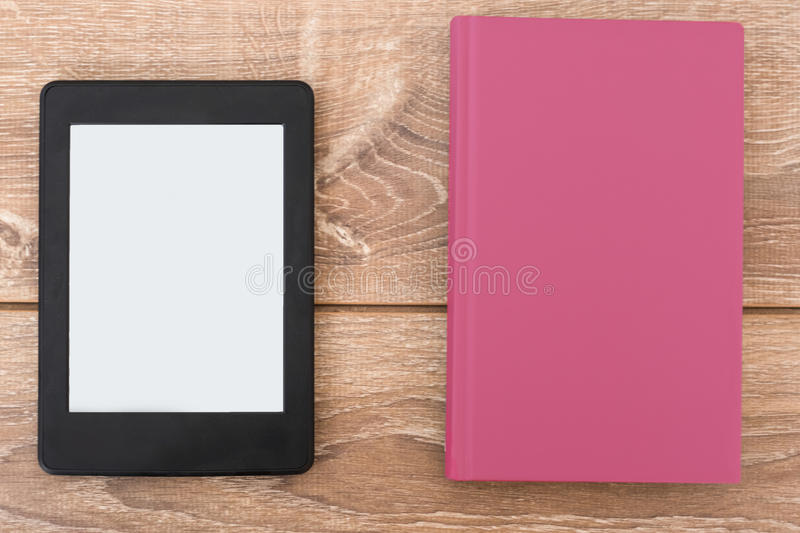 E-book reader books royalty free stock images