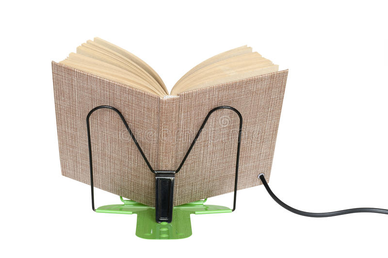 Download E-book on a stand stock photo. Image of concept, back - 19342154