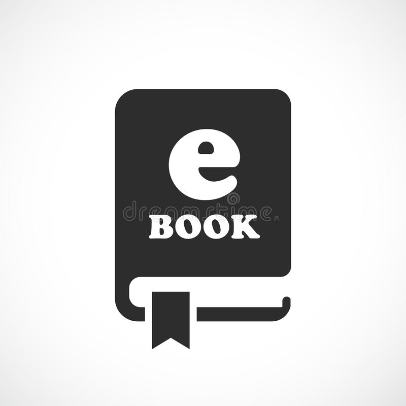 E-book vectorpictogram vector illustratie