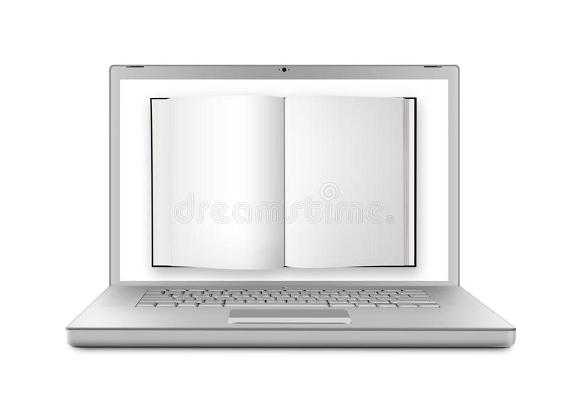 Download E-book - XL stock illustration. Image of book, online - 26238476