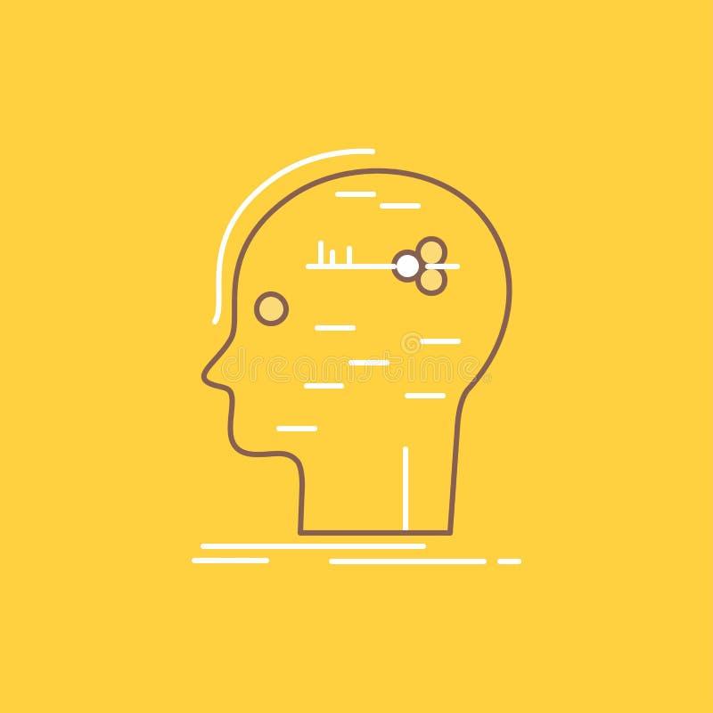 E Bot?o bonito do logotipo sobre o fundo amarelo para UI e UX, Web site ou ilustração stock