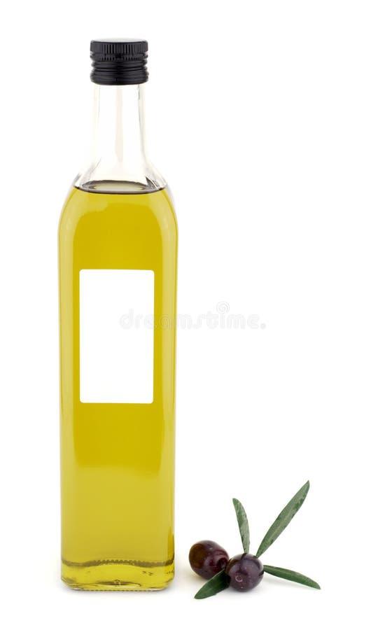 E bottiglia dell'olio di oliva immagini stock libere da diritti