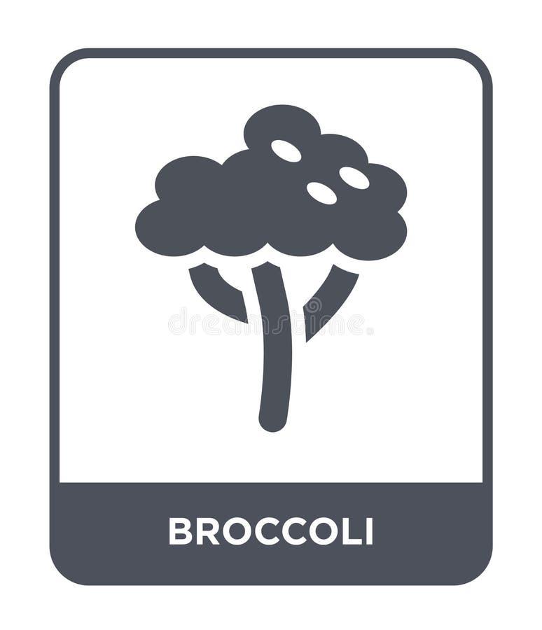E broccolisymbol som isoleras på vit bakgrund r vektor illustrationer