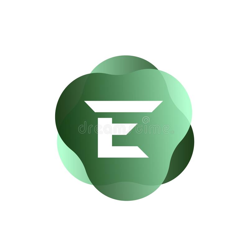E-Buchstabe-Logo lizenzfreie abbildung