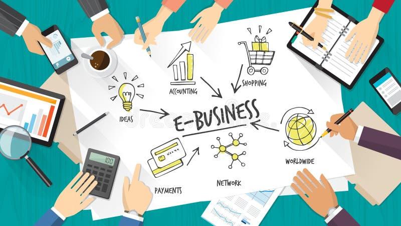 E-Business stock abbildung