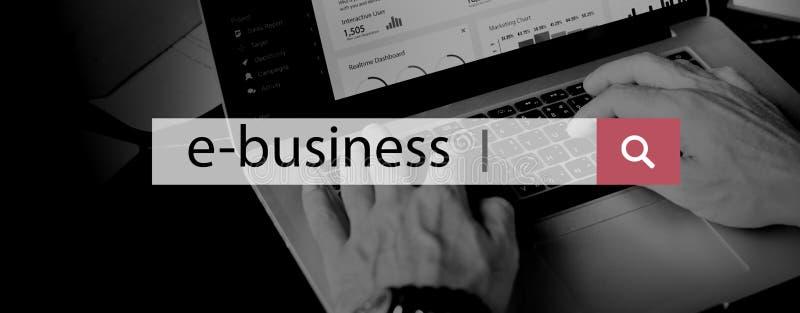 E-Business Commerce Marketing Business Concept stock illustration