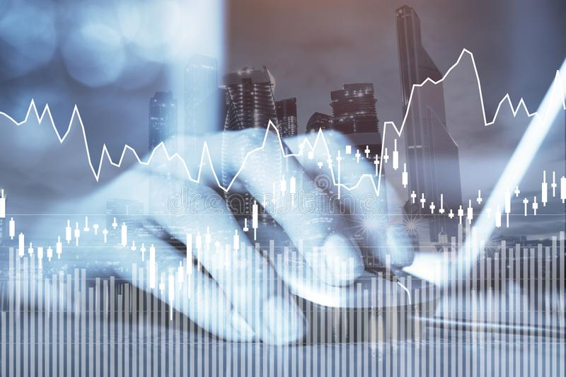 E-business or forex concept, business online, financial charts. E-business or forex concept, business online, abstract financial charts with statistics stock photos