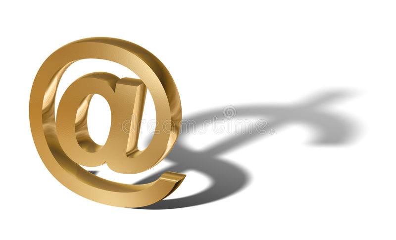 E-business (gold) stock photo