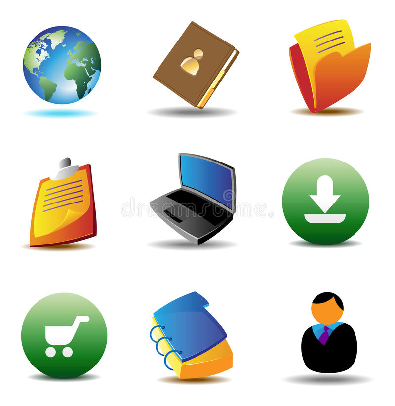 E-business icons royalty free illustration