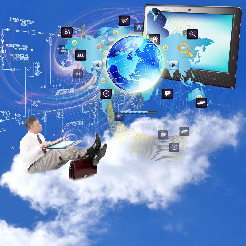 E-business. Internet technologies.Network stock image