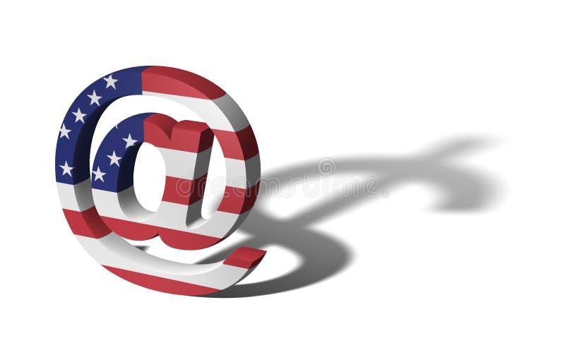 E-business (USA-Markierungsfahne) stock abbildung