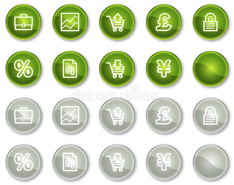 Download E-business Web Icons, Circle Buttons Stock Vector - Image: 12087271