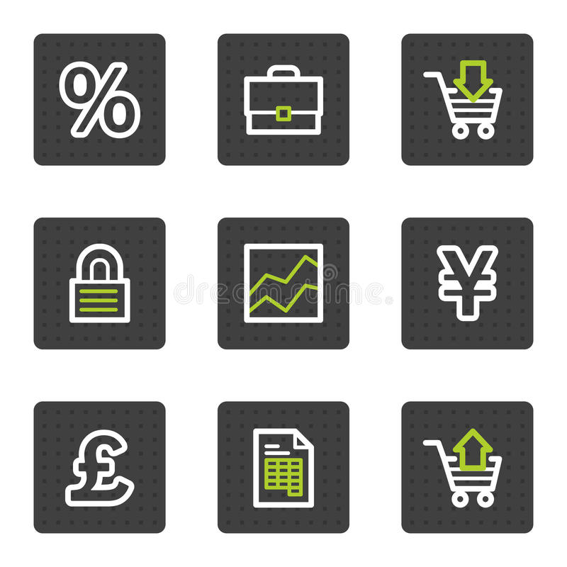 Download E-business Web Icons, Grey Square Buttons Series Stock Vector - Illustration: 13202073