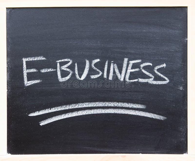 E-businessnahaufnahme stockfoto