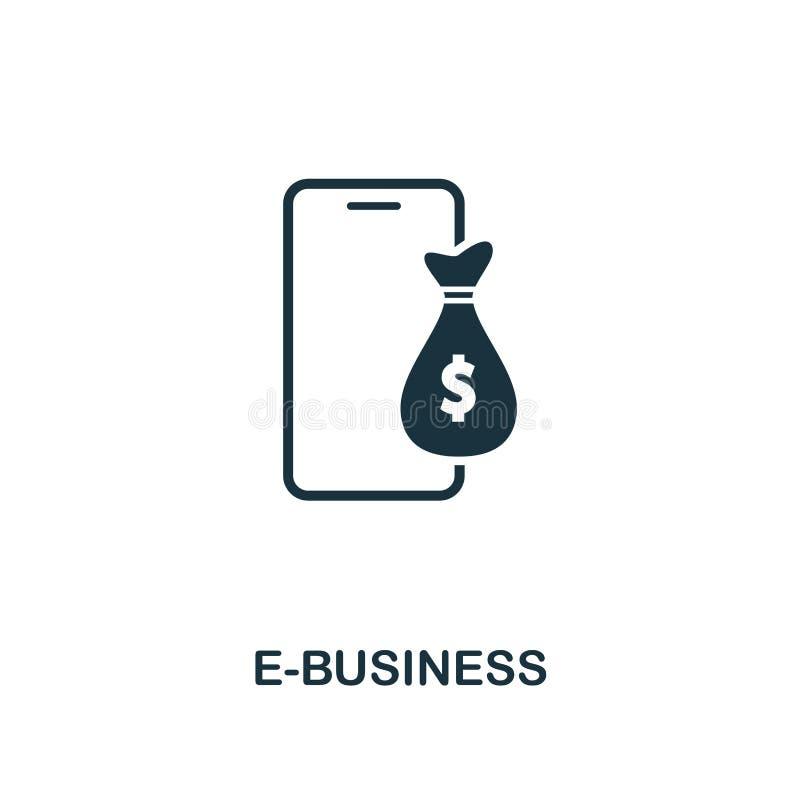 e-businesspictogram r Pictogram van het pixel het perfecte E-business voor Web stock illustratie