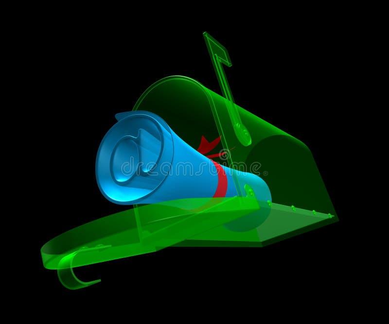 E-Caja ilustración del vector
