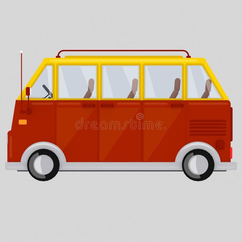 E carro 3d stock de ilustración