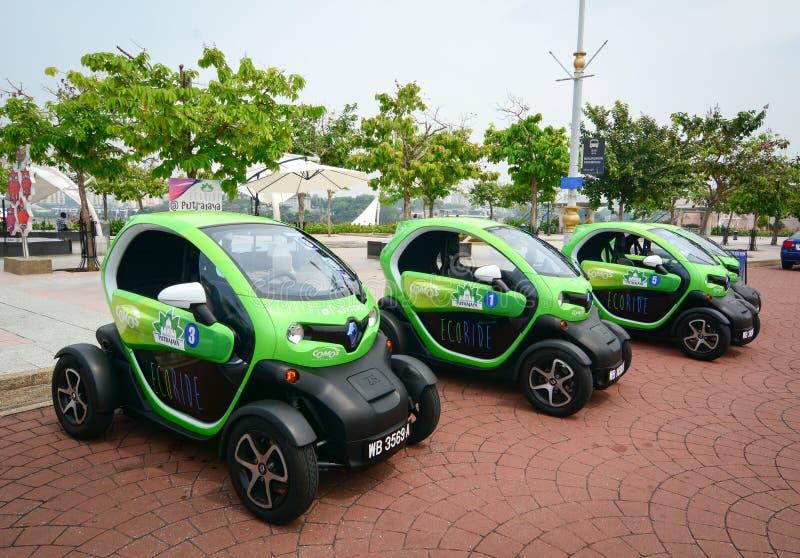 E-carros para o aluguel em Putrajaya, Malásia fotos de stock