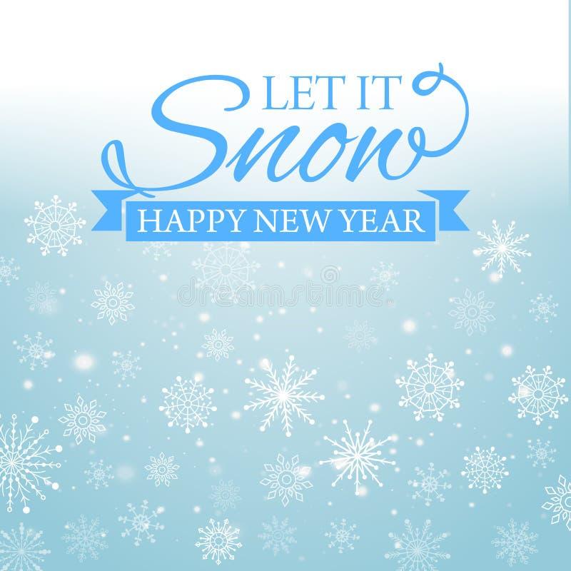 E-carta di Buon Natale e del buon anno Illustrazione di vettore illustrazione di stock