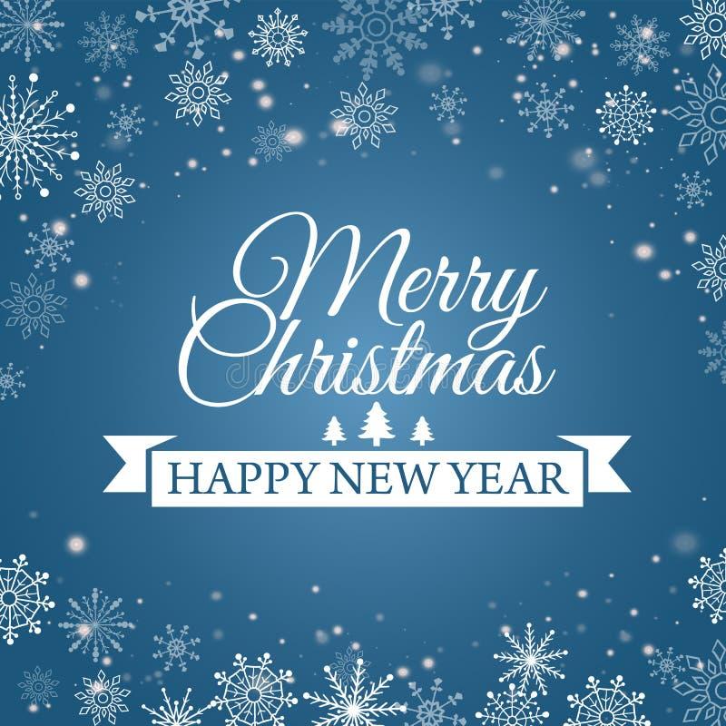 E-carta per il buon anno ed il Buon Natale Illustrazione di vettore illustrazione vettoriale