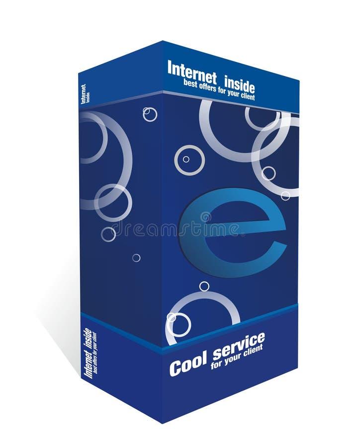 E-casella Blu Fotografia Stock Libera da Diritti