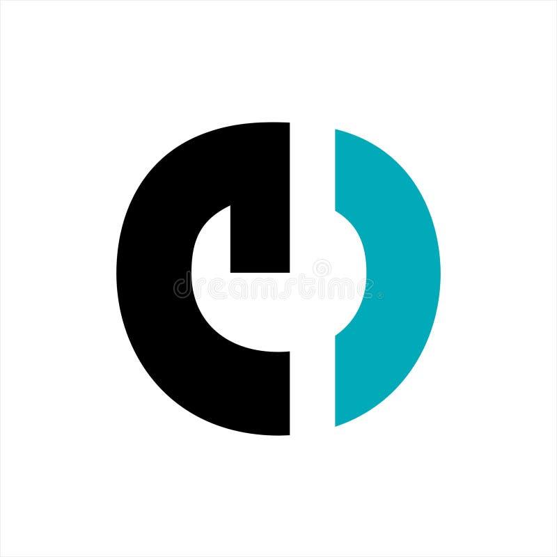 E ce, nolla, ceg, logo och symbol för företag för ceo-initialbokstav royaltyfri illustrationer