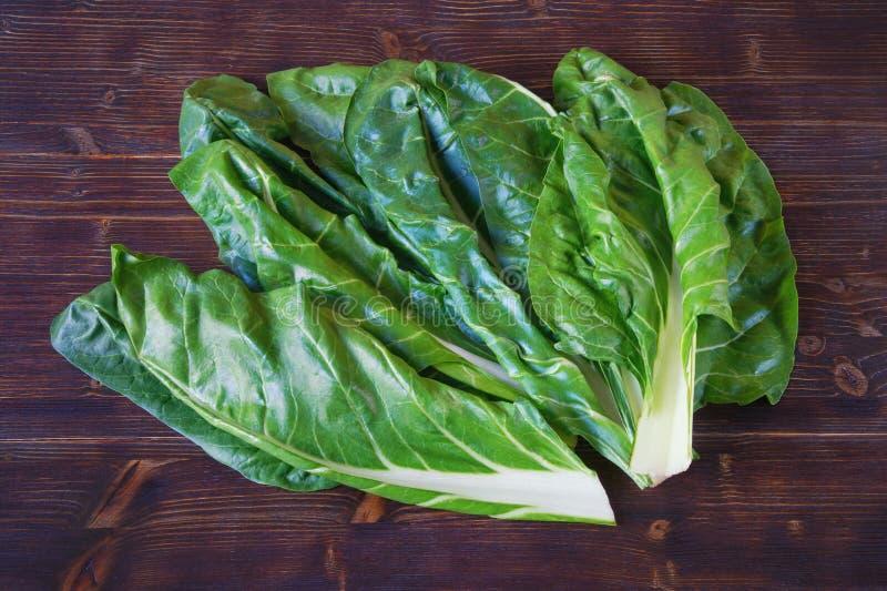 E Chard Blitva φύλλα - δημοφιλή φυλλώδη λαχανικά στοκ εικόνα