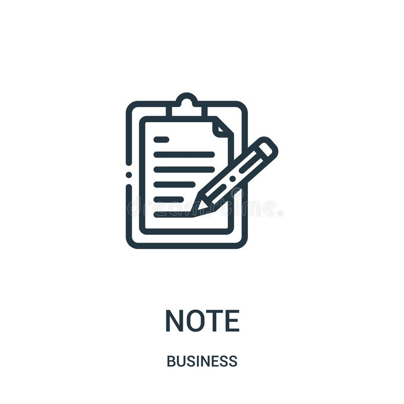 E Cienka linii notatki konturu ikony wektoru ilustracja Liniowy symbol ilustracja wektor