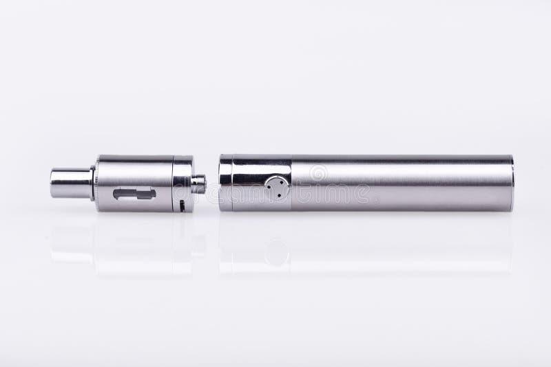 E-cigarette mod on white royalty free stock image