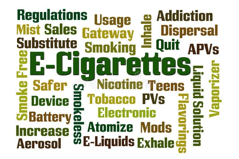 E-cigaretter stock illustrationer