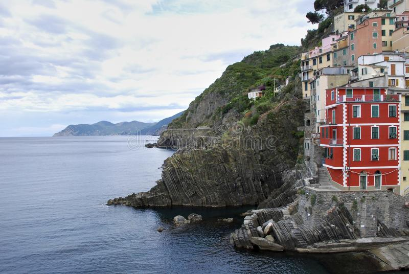 E Cinque Terre National Park, Ligurië Italië stock foto