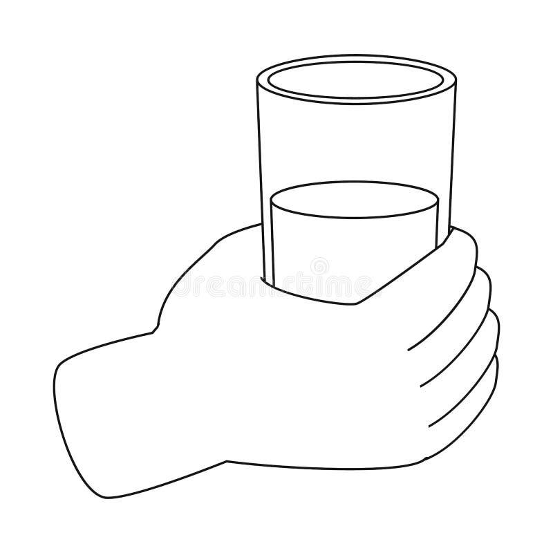 E Collection de l'eau et de l'illustration courante en verre de vecteur illustration libre de droits