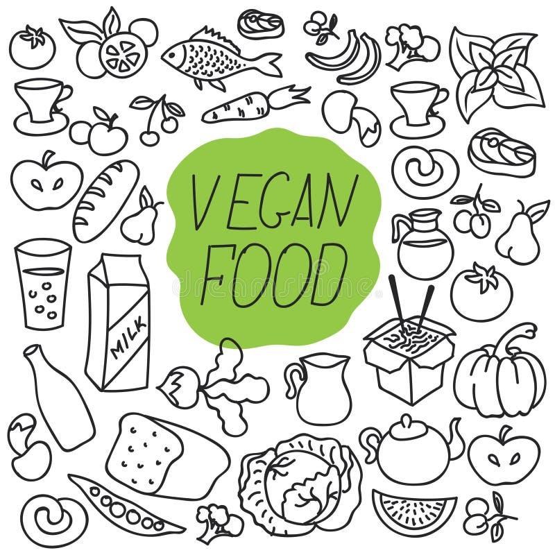 E Comer saudável r ilustração do vetor