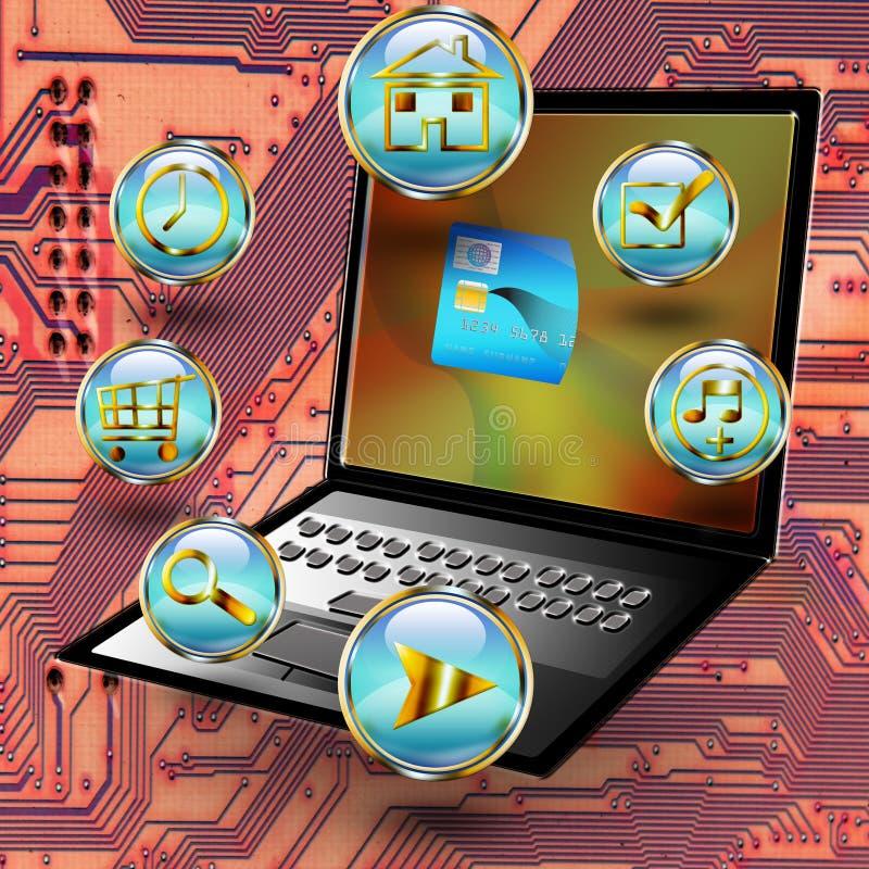 E commerce. An illustration for internet business
