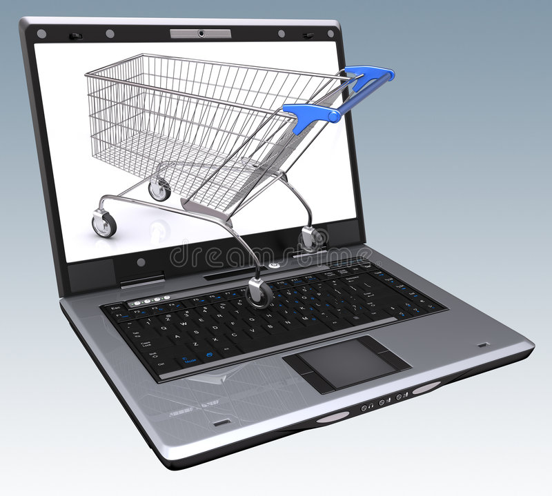 Download E-commerce stock illustration. Image of download, purchases - 5760439