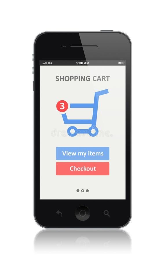 E-commerce app on modern smartphone