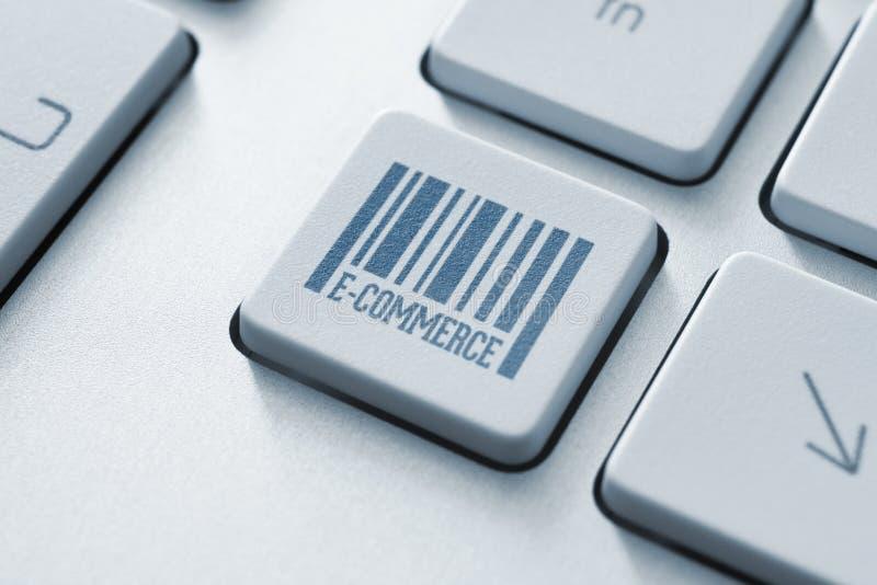 E-commerce button. On a modern computer keyboard