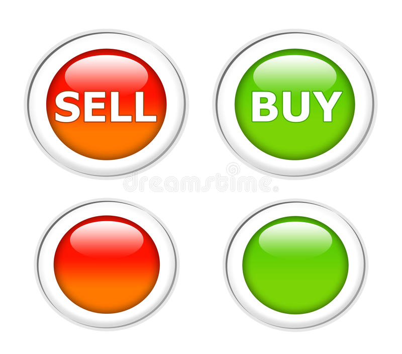 E-commerce Buttons Royalty Free Stock Image
