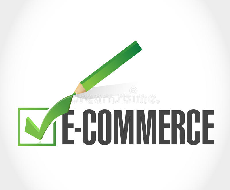 e-commerce check of approval illustration royalty free illustration