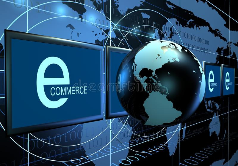 Download E commerce concept stock illustration. Illustration of design - 10756622