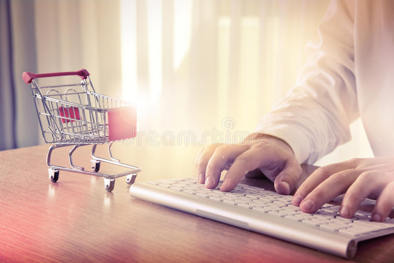 E-commerce concept. stock photography