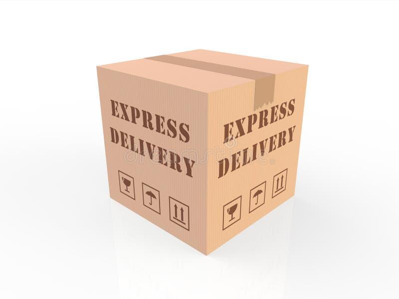 E-commerce delivery carton cardboard box stock illustration