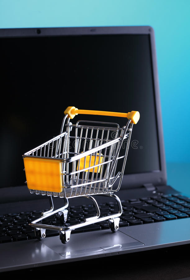 E-Commerce-Einkaufen stockfoto