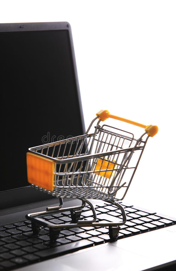 E-Commerce-Einkaufen stockfotografie