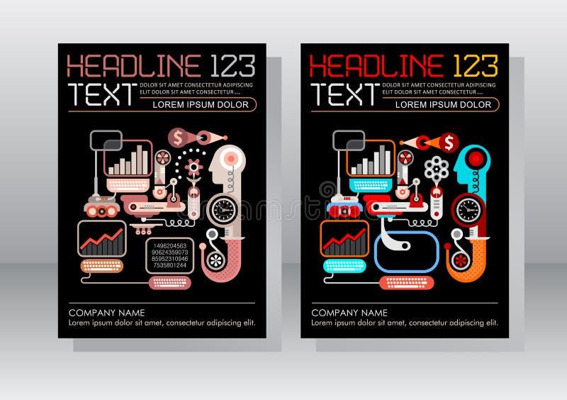 E-Commerce-Geschäfts-Broschüren-Schablonen-Design stock abbildung