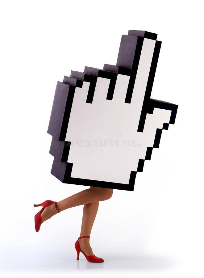 E-commerce hand cursor running